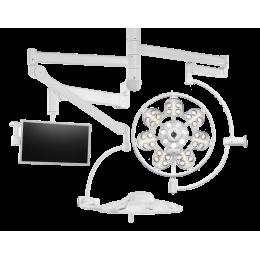 Светильник операционный «ЭМАЛЕД 500/500/X» потолочный двухкупольный с дополнительной консолью для монитора