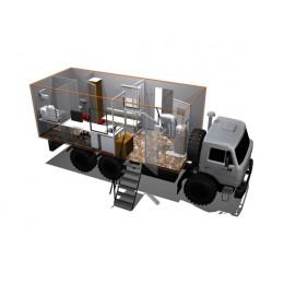 Кабинет маммографический подвижный КМП-РП на базе шасси КАМАЗ-65115 и КАМАЗ-4308