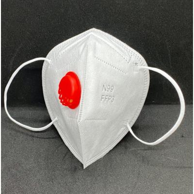 Респиратор одноразовый нестерильный из нетканых материалов, класс защиты N99/FFP3 с клапаном вдоха